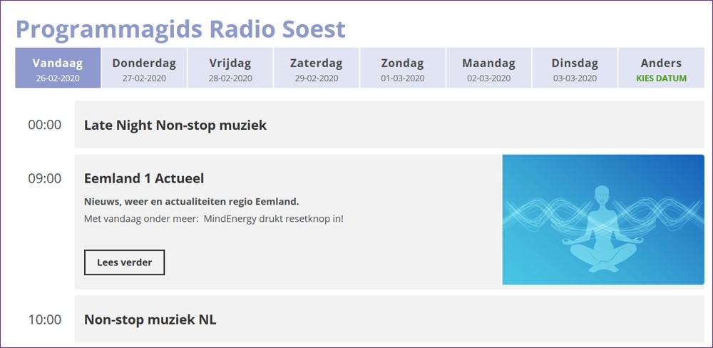 In de uitzending bij Radio Soest